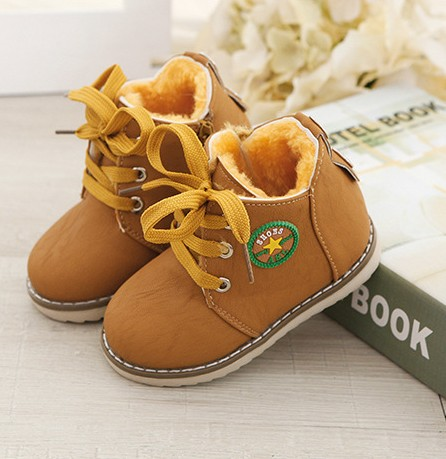 Winter gilrs and boys boots baby shoes children with warm cotton shoes and Ma Dingxue shoes size 21-30<br><br>Aliexpress