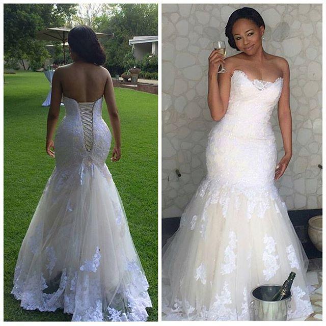 Don's Bridal Elegant Africa Lace Mermaid Wedding Dresses Plus Size Corset Back Sweetheart Bridal Gowns 2017 Vestidos De Novia(China (Mainland))
