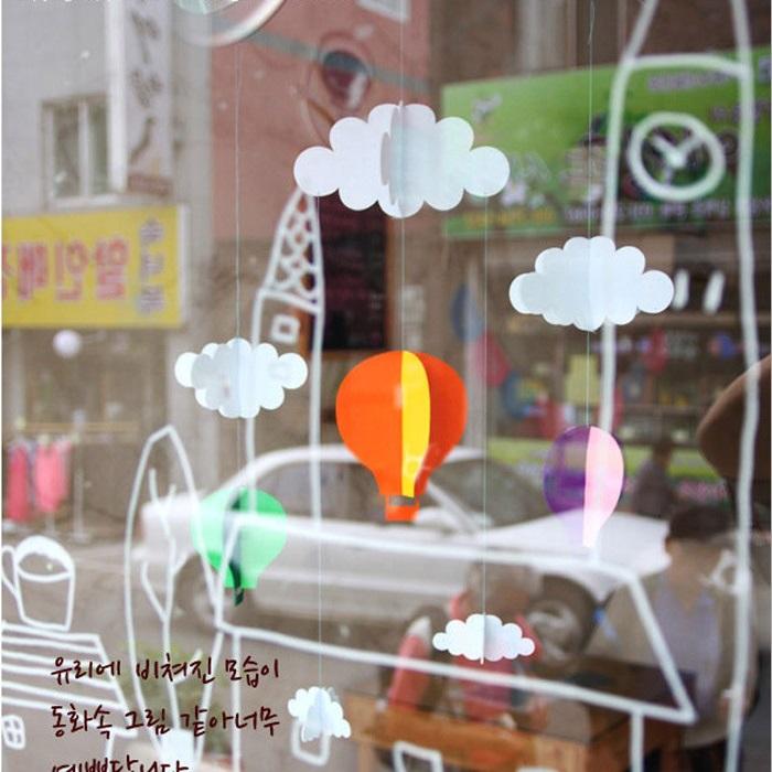 8pcs/set 3d felt hot air balloon tree haning decoration Christmas tree ornaments for christmas party decoration supplies(China (Mainland))