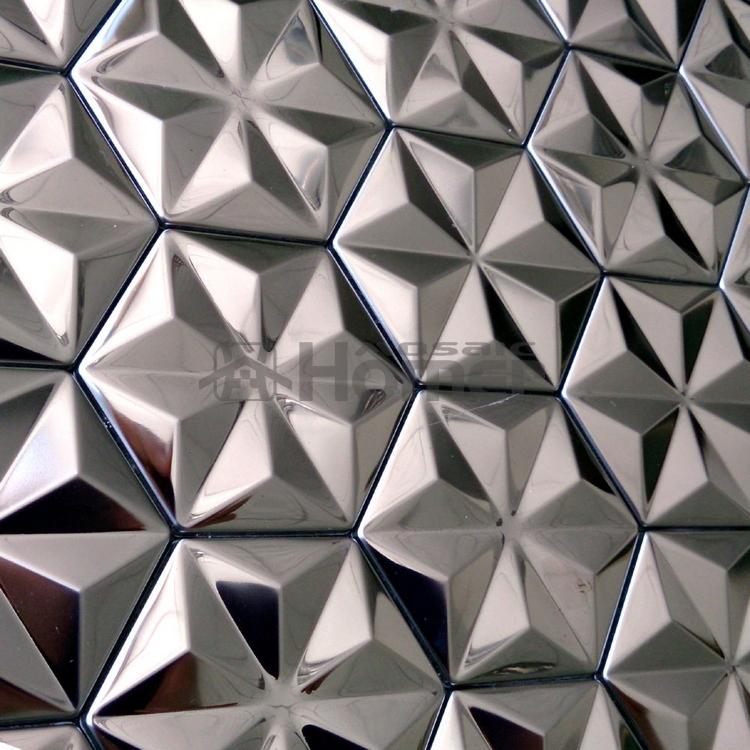 """sheet size 12x12"""", self adhensive stainless steel metal mosaic tiles wall tiles kitchen backsplash HME8011(China (Mainland))"""