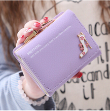 New short wallet female cute wallet thirty percent women's high-heeled shoes zero wallet change purse women's short wallet(China (Mainland))