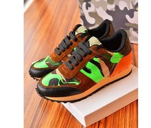 fashionville free ship u026 40 41 42 43 44 unisex camo stud genuine leather sneakers