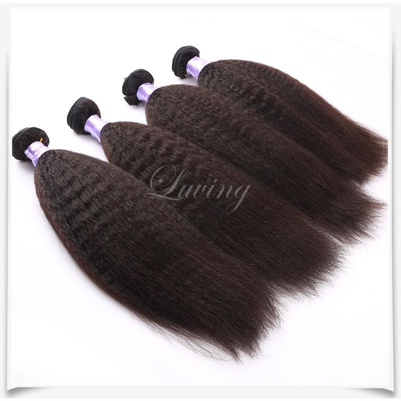 Virgin Hair Straight Coarse Yaki Human Hair 06