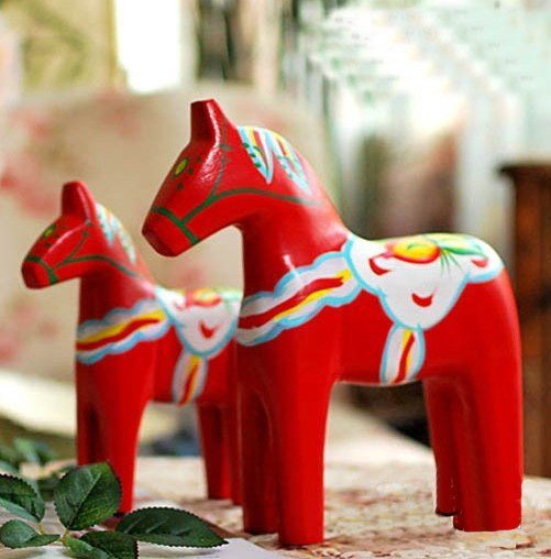 wholesale wooden craft arts horse handicraft animal desk office car home decoration gift  for friends novely handicraft  2pc/set