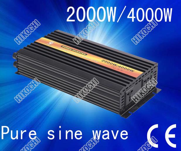 2000w 12v 24v 48v  inverter pure sine wave solar inverter home inverter converter CE ROHS certificate high quality free shipping