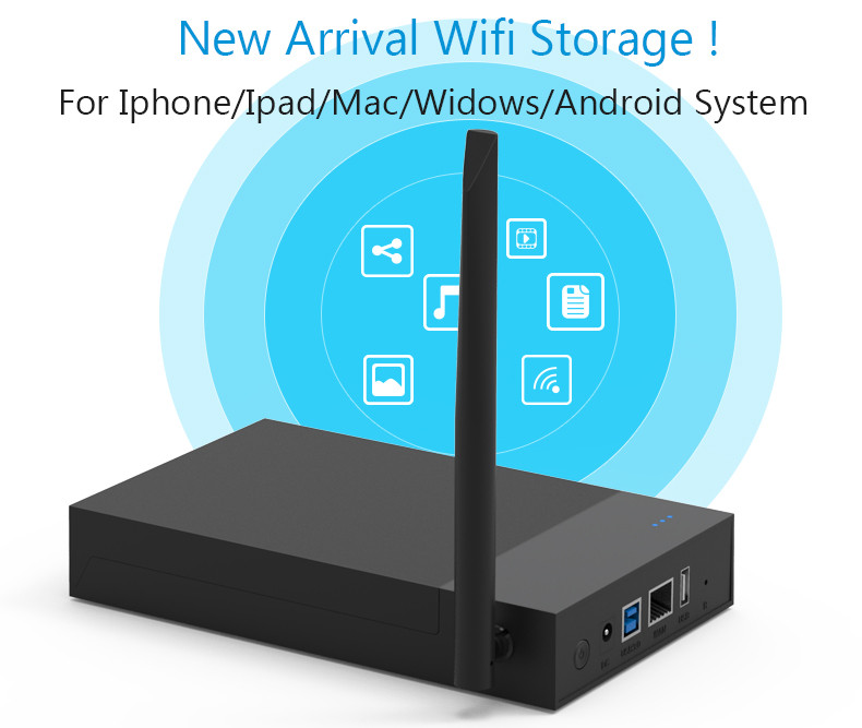 """Nas Wifi Router Wifi Sharing Storage Tool Free 2.5""""3.5""""SATA HDD/SSD Enclosure Nas LAN Share RJ45 Ethernet Wireless Devices(China (Mainland))"""