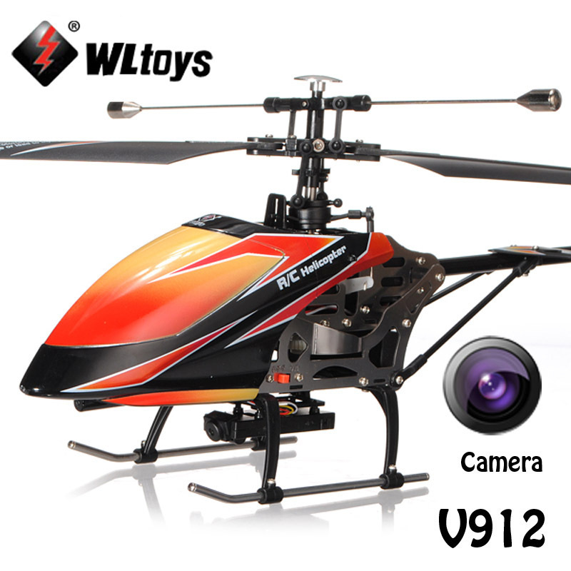 WLtoys V912 Large 2.4Ghz 4Ch Single Blade Remote Control RC Helicopter with Camera Gyro RTF Upgrade Version VS no camera version(China (Mainland))