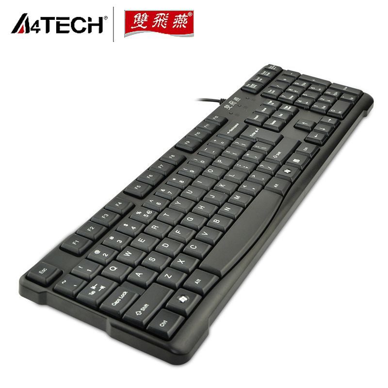 A4TECH KR-6A Thin Waterproof USB or PS/2 Wired Games Keyboard for Laptop Desktop Home Office(China (Mainland))