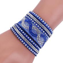 Buy Fashion New Leather Bracelets Wrap Bracelet women Clasp Charm Bracelets Bangles for $1.25 in AliExpress store