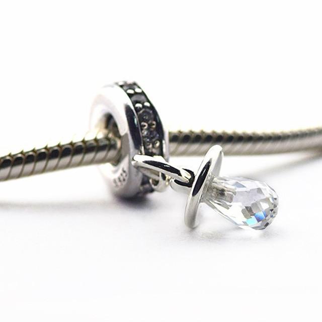 Новый горячая распродажа подходит пандора браслеты оригинал 925 - серебро бусины ребенок соску шарм ювелирные изделия DIY бусины оптовая продажа