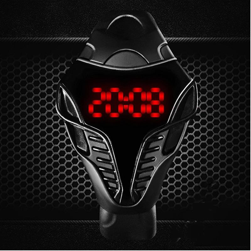 Crazy Hot Sale!!! Cool LED Digital Watches men fashion waterproof Mens Sport Watches, Silicone Man Cobra Shape Dial Wristwatches(China (Mainland))