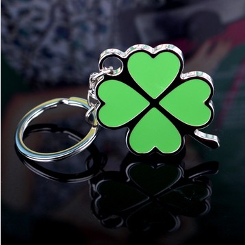 Delicate four leaf clover love lovers gift keychain lucky grass logo<br><br>Aliexpress