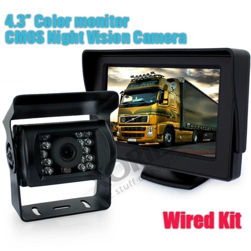 """Xories 12V Car Reverse Camera System 4.3"""" 2CH LCD Monitor + Waterproof Backup Camera(China (Mainland))"""