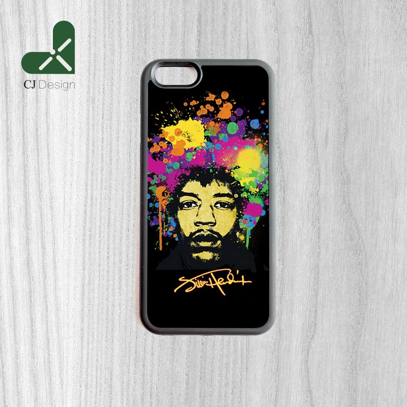New Arrival Popular Jimi hendrix Pattern Style Back Mobile Accessories Protective Cover For iPhone 6 6s And 4 4s 5 5s 5c 6 Plus(China (Mainland))