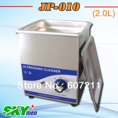 Free shipping 2liter ultrasonic cleaner 60W with stainless steel basket, ultrasonic bath(China (Mainland))