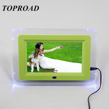 7 Inch Digital Photo Frames 16:9 TFT Screen 800*480 Resolution Digital Picture Frame LED Light Protective Panel Built-in Speaker