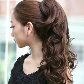 Free Shipping Pro Sales Long Curly Ponytails Synthetic Pony Tail Lady Clip On Hair Extension Multicolors Women's Extensions
