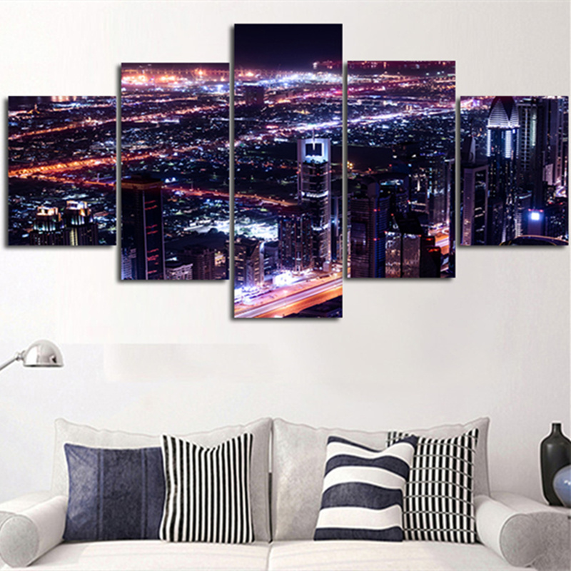 5planes 2016 Wall Art Picture Dubai Stree View Hot Sale