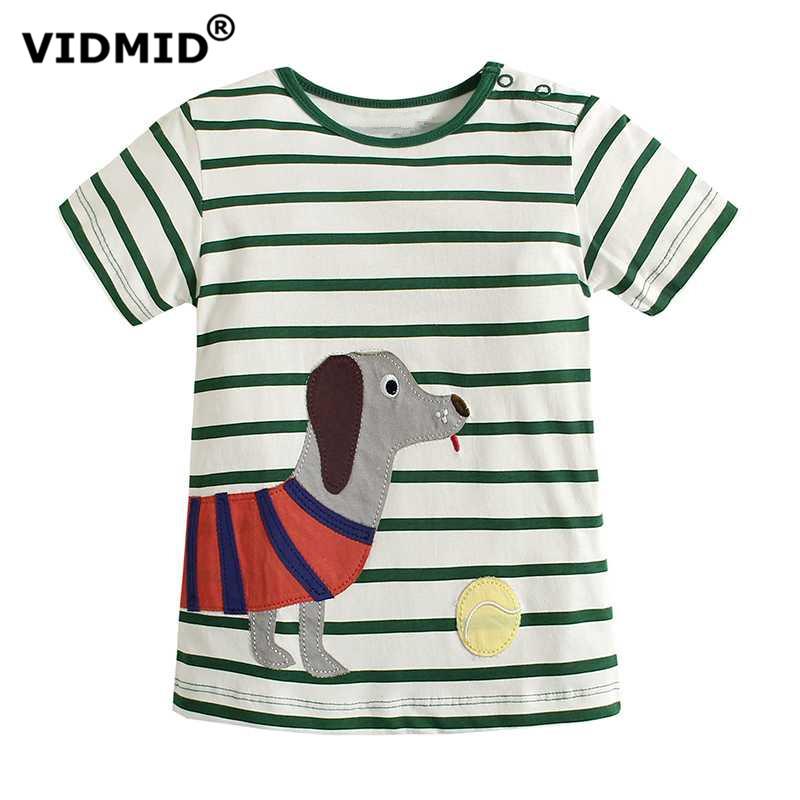 VIDMID Boys T-shirt 2017 summer children's clothing baby bottoming shirt kids t shirts cotton cartoon baby clothes car dinosaur
