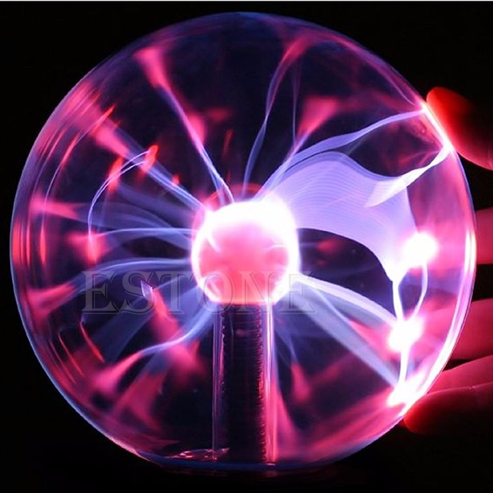 New Magic USB Glass Plasma Ball Sphere Lightning Lamp Light Party Black Base HXP001