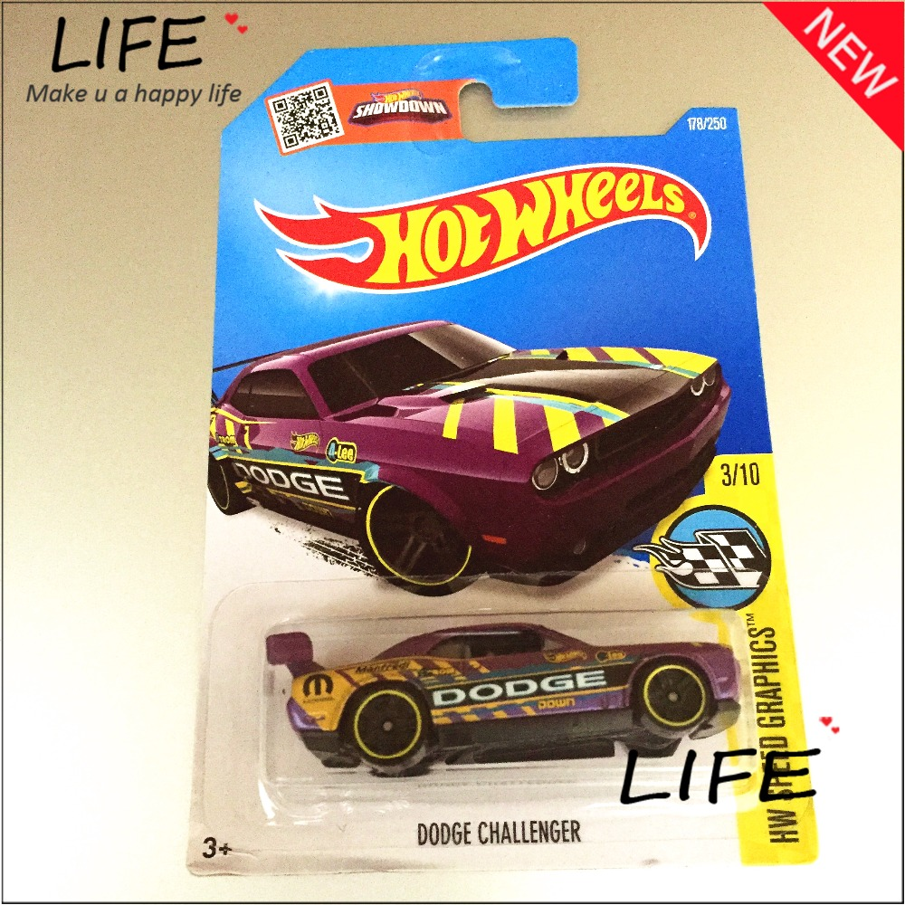 2016 Free Shipping Hot Wheels dodge challenger Car Models Metal Diecast Cars Collection Kids Toys Vehicle For Children Juguetes(China (Mainland))