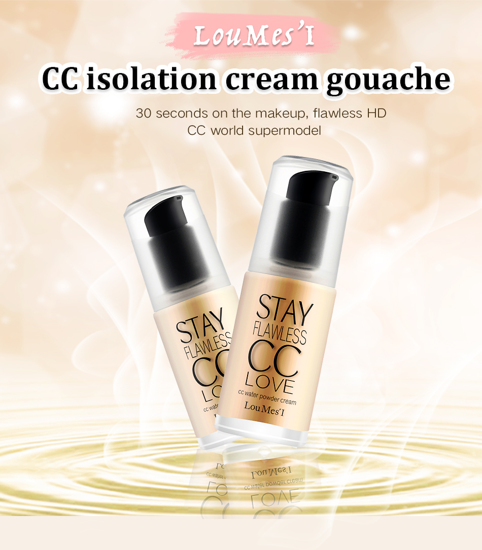Loumesi cc cream hydrating  base primer Natural Concealer Brighten Long-lasting Cosmetics Base Make up