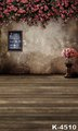 5X7ft Retro Wooden Photography Backdrops Digital Muslin Fabric Printing Flowers Backgrounds For Wedding Photo 150X200cm Fond