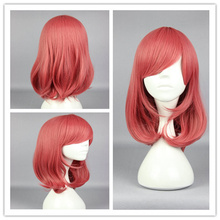 44cm 17inch Anime Lovelive Nishikino Maki Synthetic Hair Short Grils Straight Red Cosplay Wig (China (Mainland))