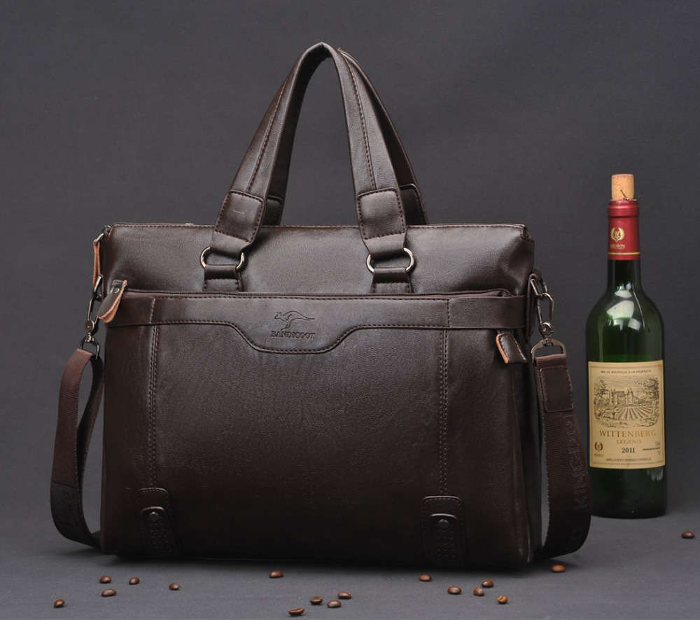 2016 fashion Polo leather briefcases men famous brands high quality men messenger bags tasteful vintage laptop bag dollar price(China (Mainland))
