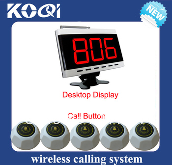 Nurse calling system with wireless clinic of 1 desktop pager for nurse station and 5 nurse calling bell free shipping free