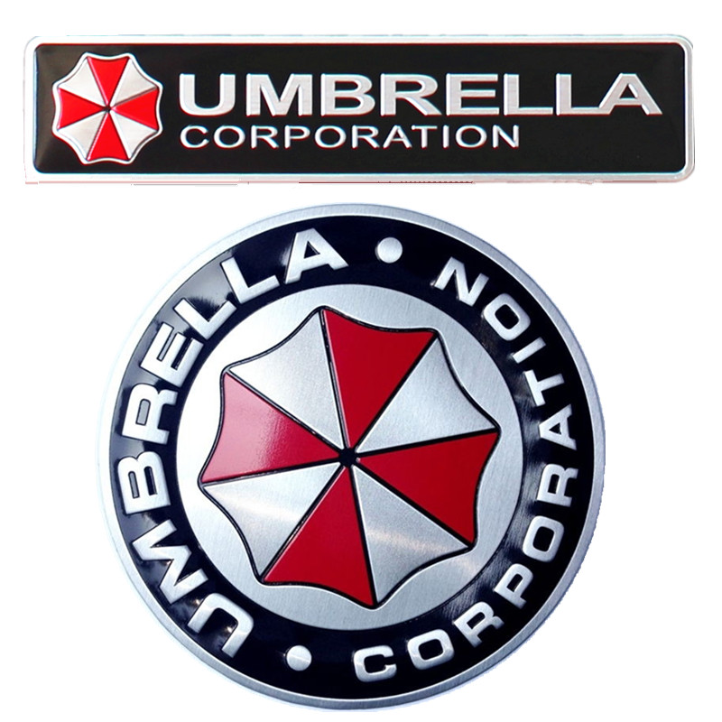 Halloween Gift 3d Car Stickers Resident Evil Umbrella Corporation
