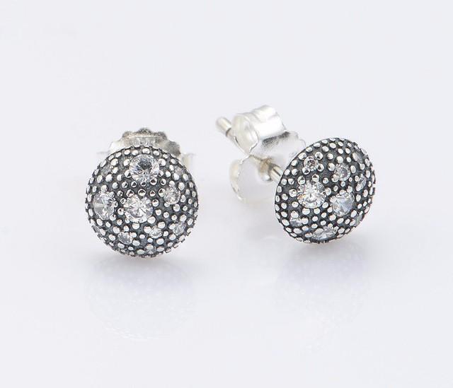 925-sterling-silver CZ камни серьгу для женщин DIY Jewerly выводы матч европейский известная марка ювелирных изделий летний стиль