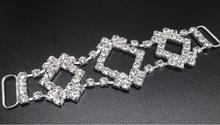 10 Pieces 10cm Clear Crystal Rhinestone Bikini Connectors/ Buckle Metal Chain For Swimming Wear Competion Suits Bikini(China (Mainland))