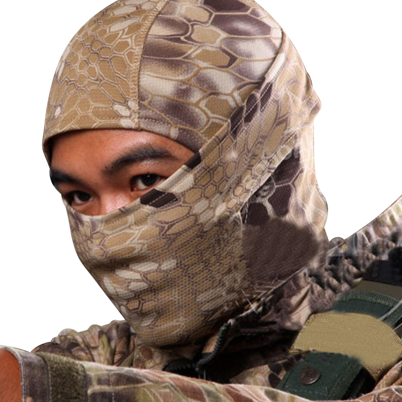 5 Color Tight Camo Balaclava Tactical Airsoft Hunting Outdoor Paintball Motorcycle Ski Cycling Protection Full Face Mask W1(China (Mainland))