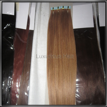 8-26inch Tape in Human Hair Extensions Top 8A Brazilian Virgin Hair Skin Weft Hair Extensions Tape Hair Extensions 50g(China (Mainland))
