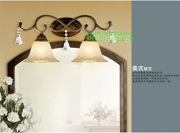 Iluminacion Baño Vintage:Tradicional de pared clásico iluminación lámpara de pared 2 baño