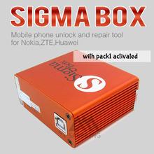 Новейшая версия сигма коробка с 9 кабели с Пакет 1 активации для Alcatel MTK на основе Motorola Huawei ZTE и Lenovo бесплатная доставка(China (Mainland))