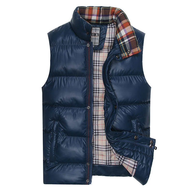 2015 Winter Thick Vest Mens Turtleneck Waistcoat Slim Zipper Solid Jackets Casual Outerwear Cotton Coats - LoLeely etrading Pty Ltd store