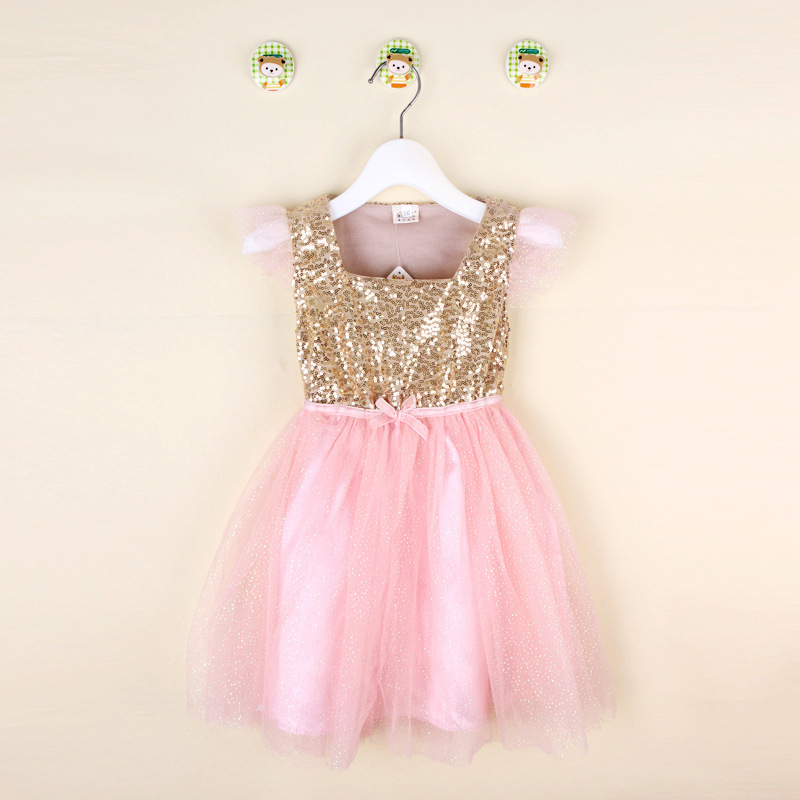 Compare Prices on Gold Pink Sequin Dress for Baby- Online Shopping ...