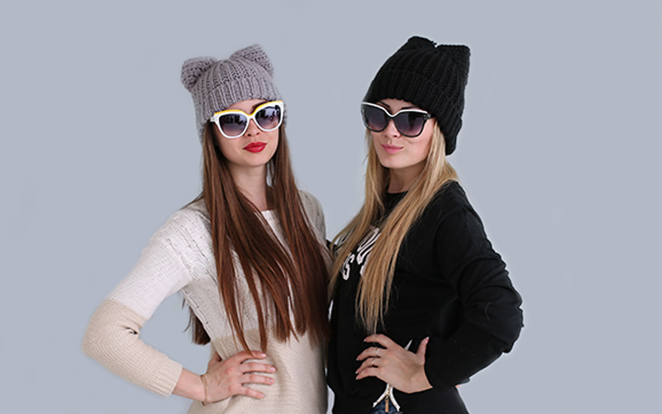 The trend of fashion star in 2016 Ear cap and lovely Naughty wool hat in the latest fashion wool hat ms hat warm hat