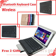 For iPad mini case Universal Wireless Bluetooth Keyboard Case for iPad mini /mini 2/mini 3 Bluetooth Keyboard case cover+2 gifts(China (Mainland))
