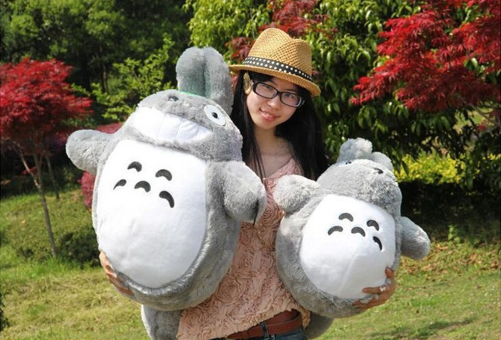 Hot Sale 20cm/30cm/45cm Famous Cartoon Totoro Plush Toys Smiling Soft Stuffed Toys High Quality Dolls Child Birthday Gifts(China (Mainland))