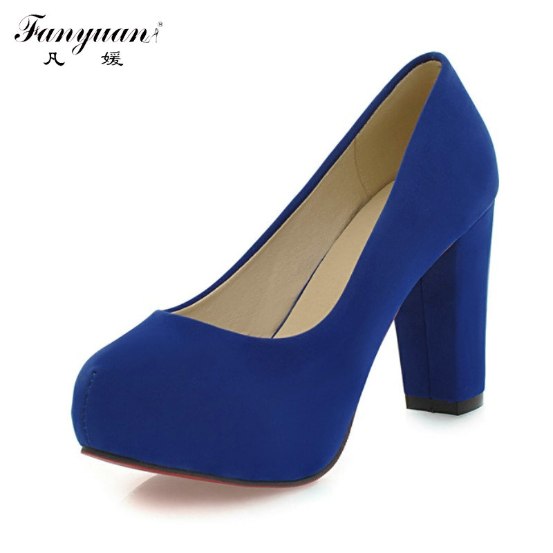 New Arrivals 2015 Fashion Shallow Thick High Heels Round Toe High Heels Platform Pumps Shoes Sexy Buckle Strap Pumps Hot Sale(China (Mainland))