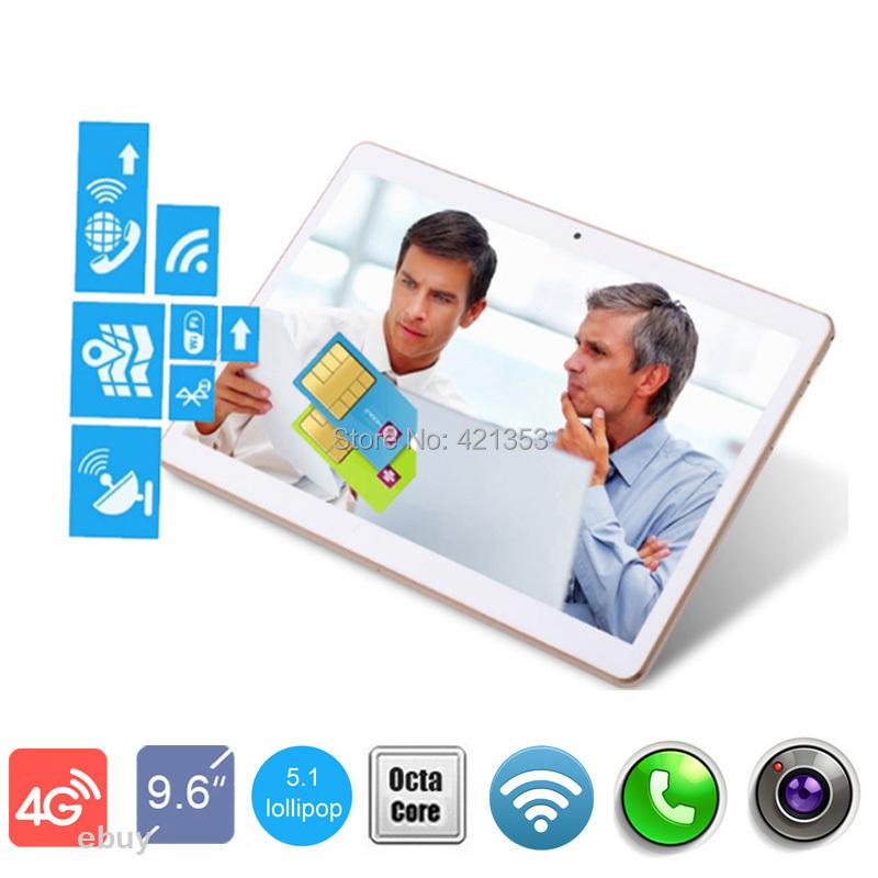 "DHL Free Shipping 9.6 inch Tablet PC 4G Lte Octa Core 4GB RAM 32GB ROM 2 SIM Card 3G WCDMA Phone Tablet 10"" GPS 1280*800 IPS(China (Mainland))"