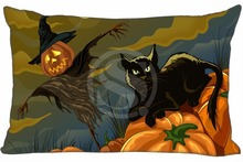 H#P-485 Custom Rectangle Zippered Pillow Case Halloween#76 Pillowcases 16x24 inch (One Side) SQ00820-@H0485 - LYQ CUSTOM store