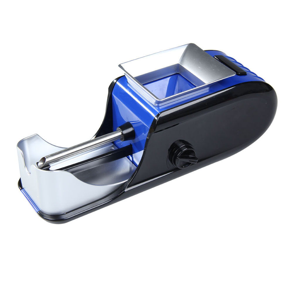 Electric Cigaret Rolling Injector Tobacco Roller Maker Machine Blue AC230V 50~60Hz 0.15A Electric Cigarette Rolling Machine(China (Mainland))