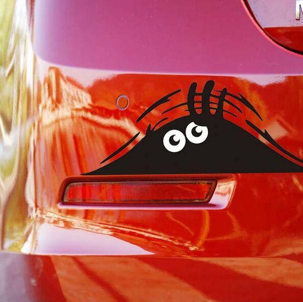 Car Reflective Waterproof Fashion Funny Peeking Monster Sticker for Opel Astra G/GTC/J/H Corsa Antara Meriva Zafira Insignia(China (Mainland))