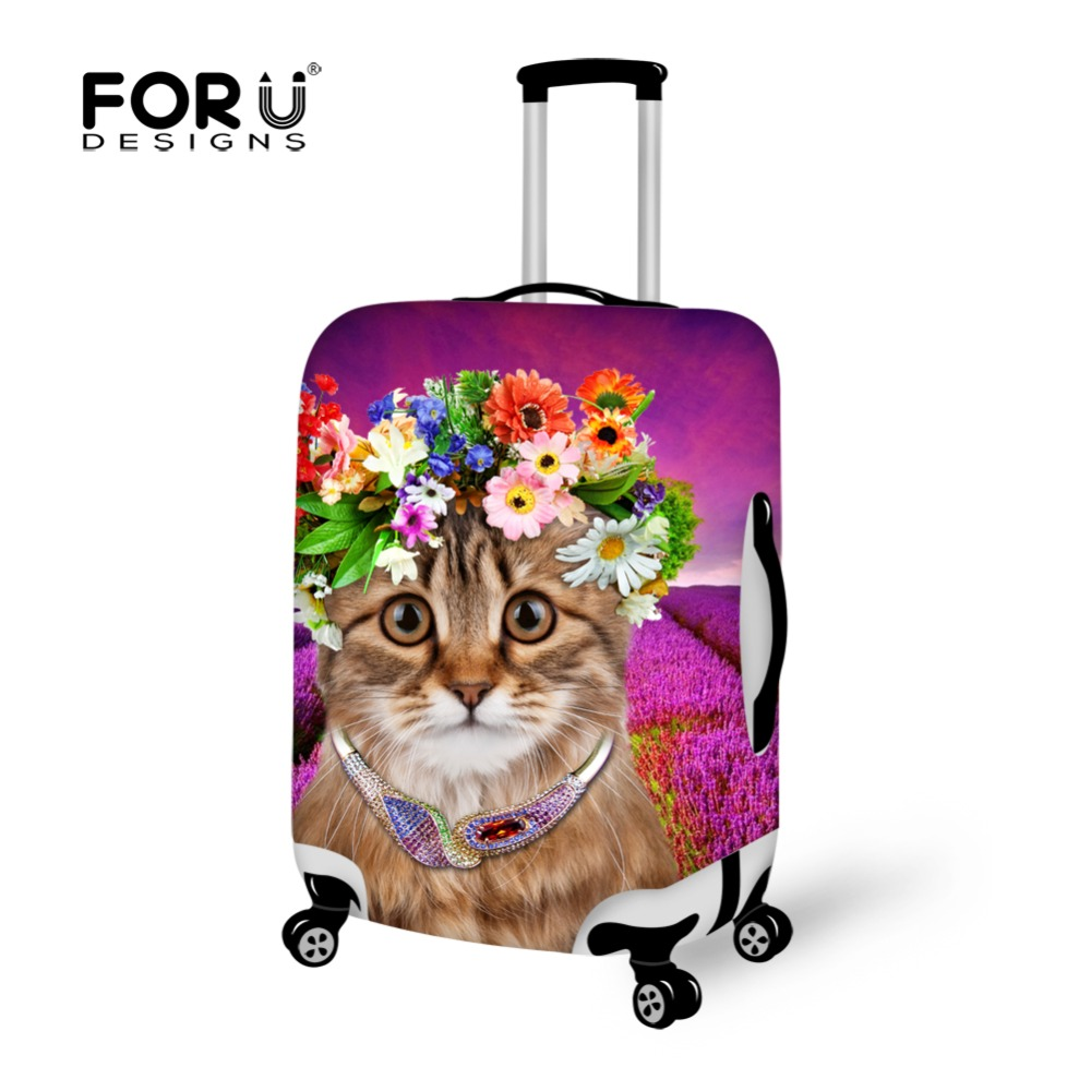 Novel Elastic 3D Animal Cat Printing Luggage Protective Dust Cover for Travel Waterproof 18-30inch Trolley Suitcase Cover(China (Mainland))