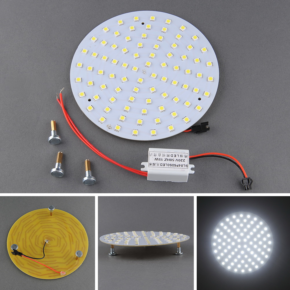 12W 5050 SMD 84 LED White Magnetic Home Panel Ceiling Light Brightness Bulb High quality Durable Long life Serviceable<br><br>Aliexpress