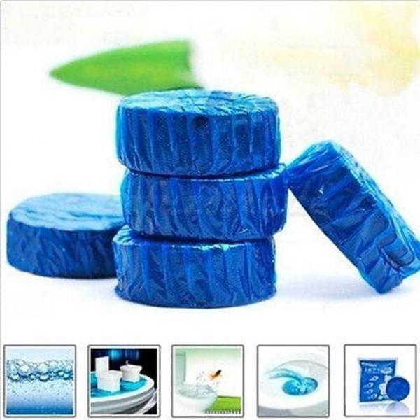 10pcsToilet Cleaner Blue Bubble Magic Automatic flush Antibacterial Cleaning Tabs Cleaner Fragrant Ball Deodorizes Bathroom Tool(China (Mainland))